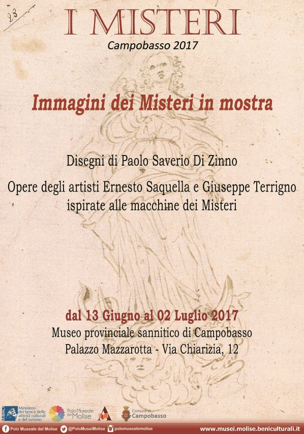 Immagini dei Misteri in mostra. Al Museo sannitico di Campobasso.